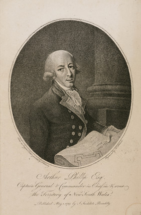 Arthur Phillip, British naval commander, c 1789.