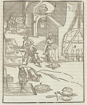 Drying of purified copper after silver has been extracted, 1580.