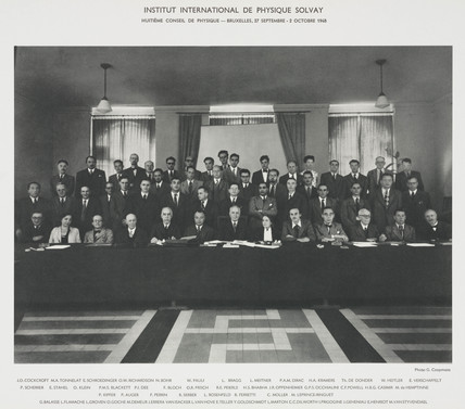 Eighth Solvay Physics Conference, Brussels, 1948.