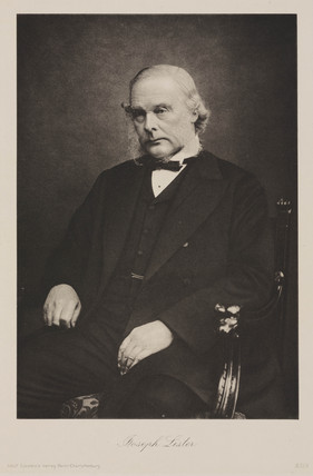 Joseph Lister, English founder of antiseptic surgery, early 20th century.