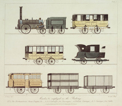 Coaches of the Liverpool & Manchester Railway, 1831.