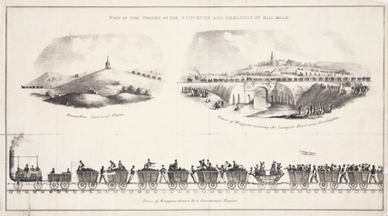 The opening of the Stockton & Darlington rail road, 1825.