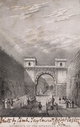 Moorish Arch at Edge Hill, Liverpool & Manchester Railway, 1830.