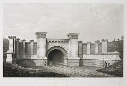 The London entrance to the Primrose Hill tunnel, 19th century.