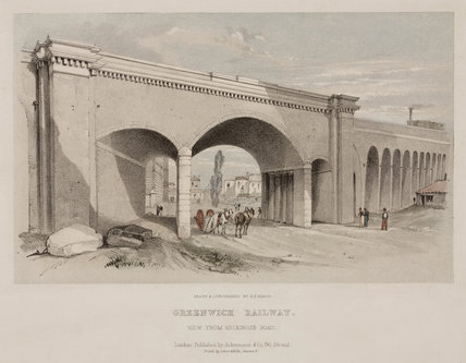 'Greenwich Railway. View from Neckinger Road', 19th century.