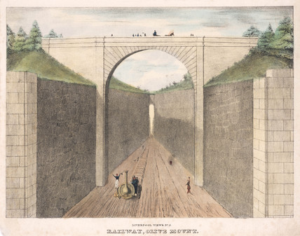 'Olive Mount', Liverpool & Manchester Railway, c 1830s.