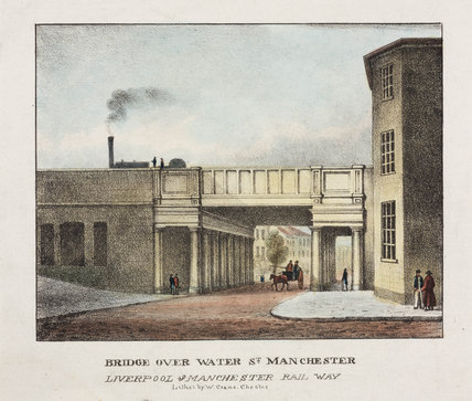 'Bridge over Water Street, Manchester', mid 19th century.