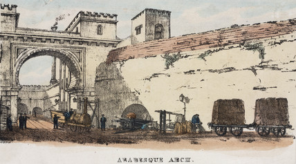 'Arabesque Arch', Liverpool & Manchester Railway, mid 19th century.