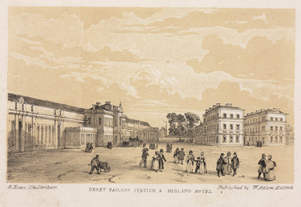 'Derby Railway Station and Midland Hotel', 1840.