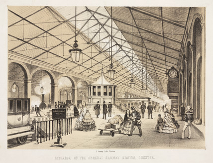 'Interior of the General Railway Station Chester', 1840.