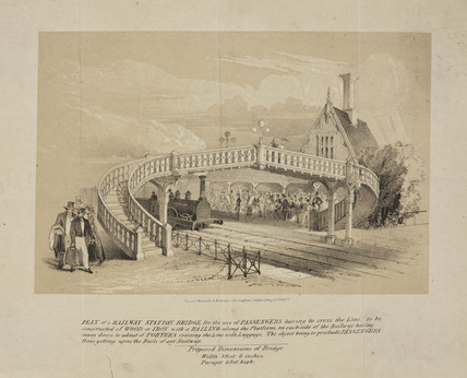 Plan for a railway footbridge, 1845.