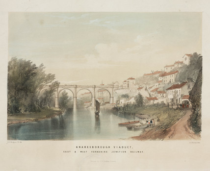 'Knaresborough Viaduct', North Yorkshire, 1847.