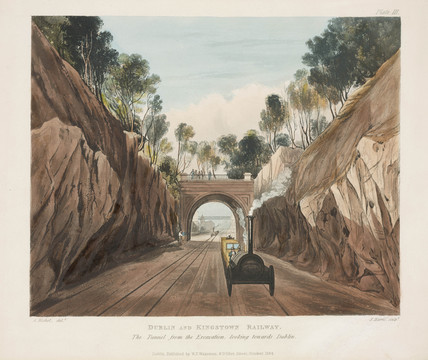 'The tunnel from the excavation looking towards Dublin', Ireland, 1834.