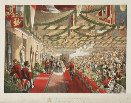 Princes Alexandra's arrival at the Bricklayers' Arms Station, London, 1863.