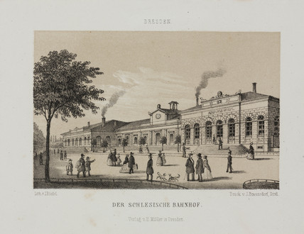 The Silesia Railway Station, Dresden, Germany, 19th century.