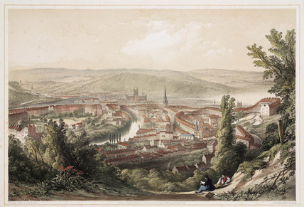 'Bath from Beacon Hill', Somerset, 19th century.