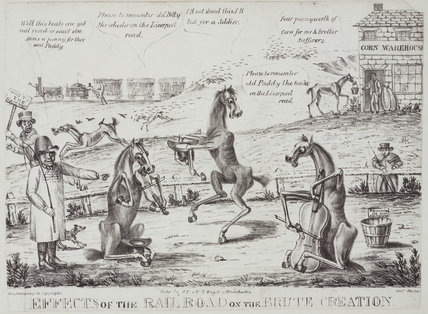 'The effects of the Rail Road on the Brute Creation', 1831.