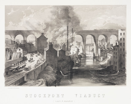 Stockport Viaduct, London & North Western Railway, 1848.