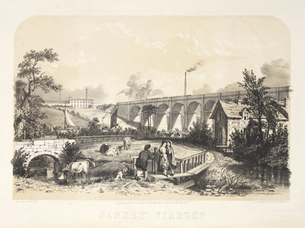 Sankey Viaduct, Warrington, Cheshire, 1848.