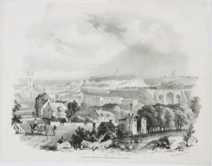 'View of Brighton from Rose Hill North', mid 19th century.
