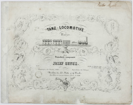 'Dance-Locomotive', sheet music cover, 19th century.