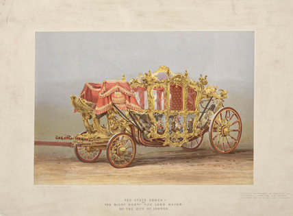 'The State Coach of the Right Honorable Lord Mayor of the City of London', 1872.