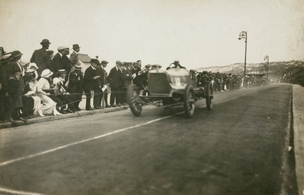 Talbot car competing at the Colwyn Bay speed trials, c 1912.