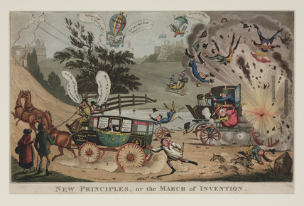 'New Principles, or the March of Invention' early 19th century.