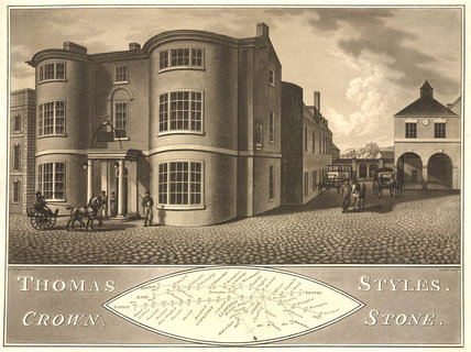Coaching Inn, Stone, Staffordshire, early 19th century.