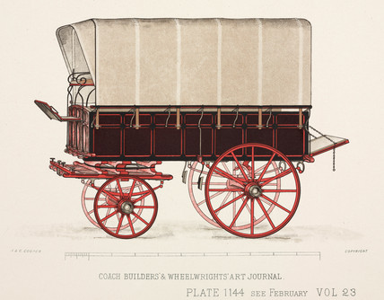 Carrier's waggon, c 1903.