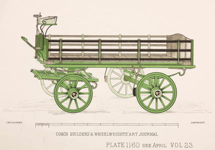 Trade delivery wagon, c 1903.