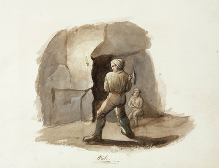 'Pick', lead mining, Northumberland,  c 1805-1820.
