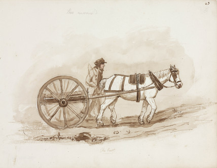 Horse and cart, Northumberland, c 1805-1820.