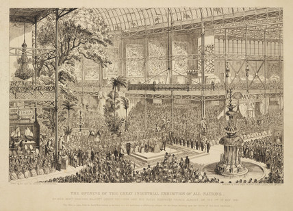 'The Opening of the Great Industrial Exhibition of All Nations', 1851.