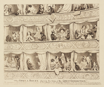 'The Opera boxes during the time of The Great Exhibition', 1851.