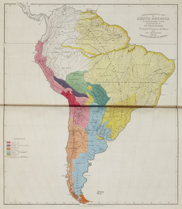 'Ethnographical Map of South America, in the Earliest Times', 1843.