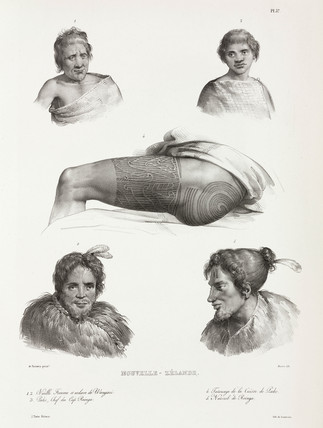 Maoris and tattoos, New Zealand, 1826-1829.