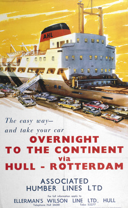 'Overnight to the Continent', BR poster, 1961.