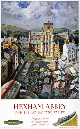 'Hexham Abbey', BR poster, 1958.