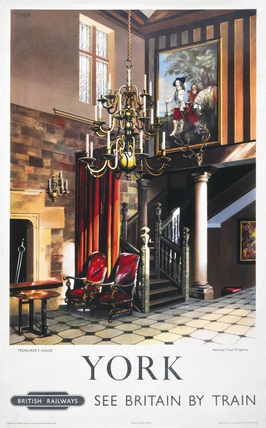 'Treasurer's House, York', BR poster, 1954.