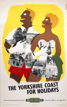'The Yorkshire Coast for Holidays', BR (NER) poster, 1955.