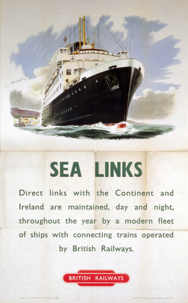 'Sea Links', BR (SR) poster, 1953.