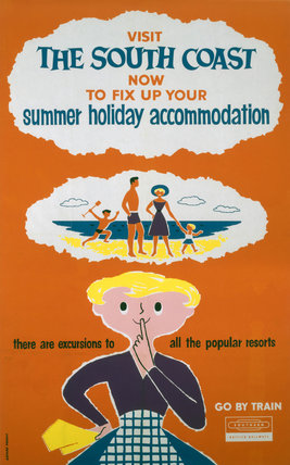 'Visit the South Coast', BR (SR) poster, 1961.