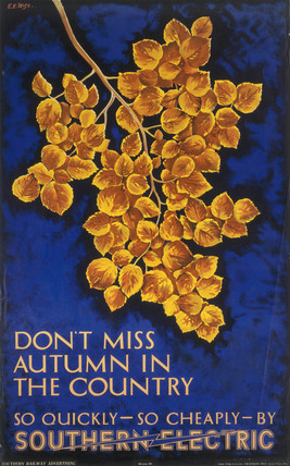 Don't Mis Autumn in the Country', SR poster, 1934.