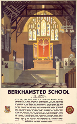 'Berkhamsted School', LMS poster, 1937.