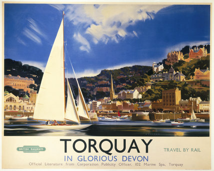 'Torquay in Glorious Devon', British Railways poster, c 1950s.