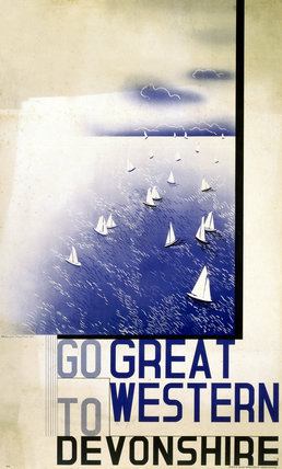 'Go Great Western to Devonshire', GWR poster, 1923-1947.