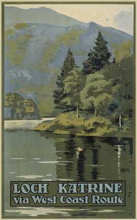 'Loch Katrine via West Coast Route', LNWR/CR poster, c 1910.