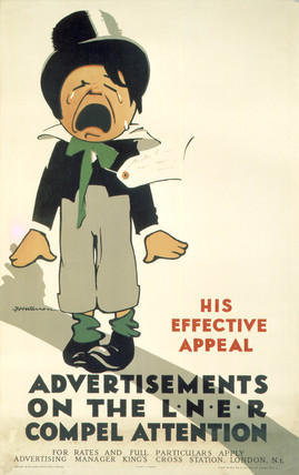 'Advertisements on the LNER Compel Attention', LNER poster, 1923-1947.