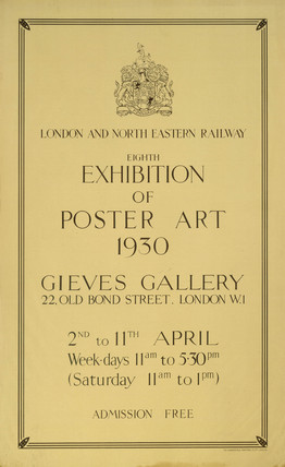 'Eighth Exhibition of Poster Art', LNER poster, 1930.
